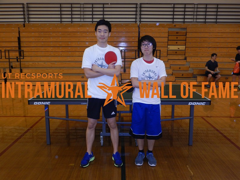 Fall 2015 Table Tennis Doubles Champion