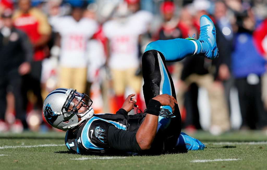 ". <p><b>CAROLINA PANTHERS</b> </p><p><i>�Cam Can�t�</i> </p><p>Newton�s Gang reigned in the NFC South </p><p>And they turned critics into believers </p><p>This season will feel like a punch in the mouth </p><p>When he finds he�s lost all his receivers <br></p><p>PREDICTION: <b>5-11 � Last place in NFC South </b> </p><p><b><a href=""http://sports.yahoo.com/blogs/shutdown-corner/carolina-panthers-have-been-gutted-at-wide-receiver--so-where-do-they-turn-now-154752312.html\"" target=\""_blank\""> LINK </a></b> </p><p>   (Kevin C. Cox/Getty Images)</p>"