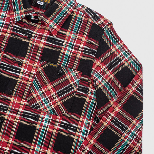 Black Crazy Check Ultra Heavy Flannel Work Shirt--2.jpg