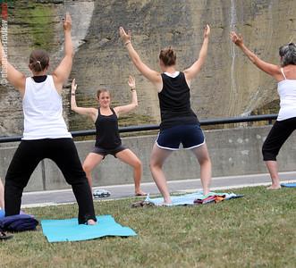 Yoga at She-Qua-Ga Falls