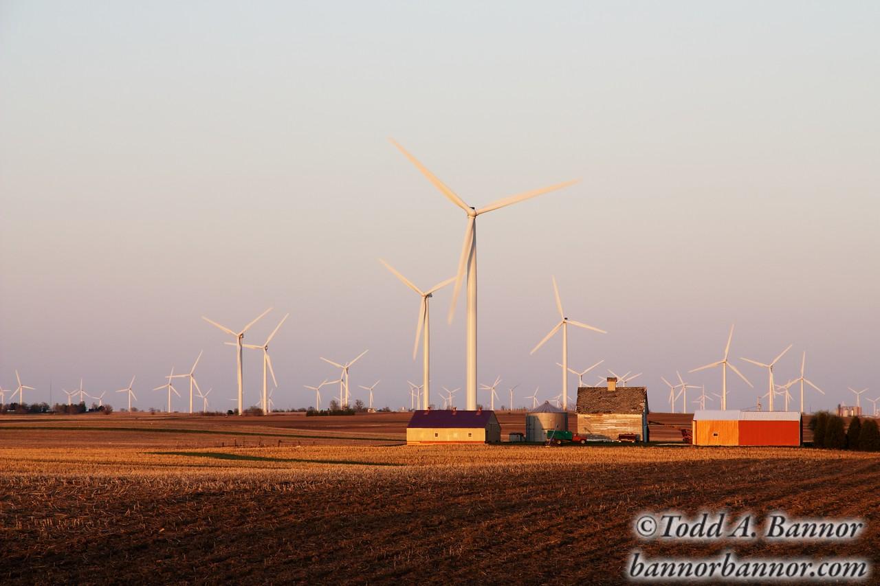 Wind farm. Benton County Indiana