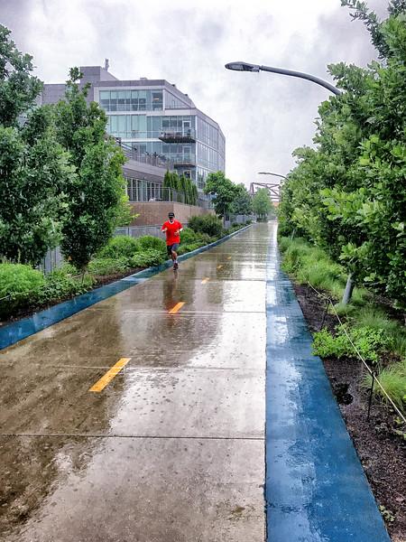 The runner in the rain