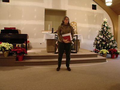 """Advent Worship """"Away in a Manger: Christ of Creation,"""" 2009, Dec. 13"""