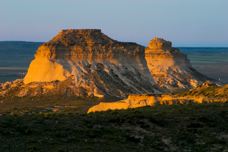 The Pawnee Buttes are found 5,500 feet above sea level in the Northeast Region of Colorado