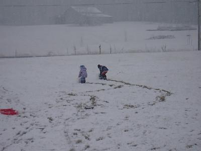 Snowman, gnocci, and 4 wheeler
