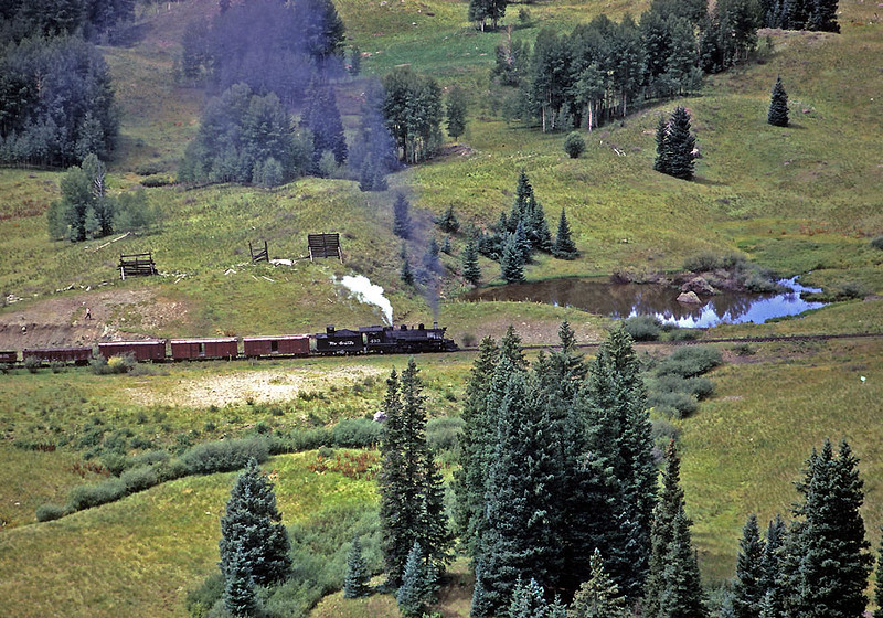 August 29, 1967.  Between the highway crossing at Coxo and the former siding at Coxo, as seen from Windy Point.