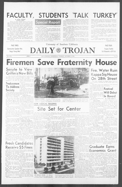 Daily Trojan, Vol. 56, No. 12, October 06, 1964