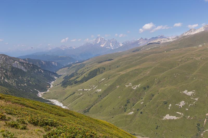 adishi, Chkhutuleri pass,  Mt Ushba