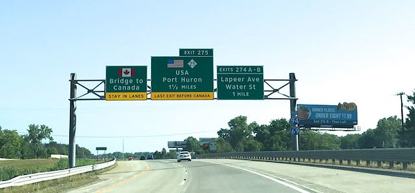 "The ""Bridge to Canada"" was my sign."