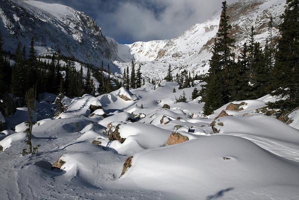 Lake Haiyaha Snow Shoe. March 2013