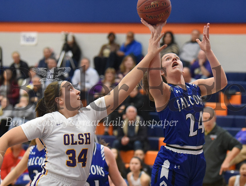 AC Valley vs OLSH  in the second  round of the PIAA 2A Girls basketball playoff game at Armstrong  High School