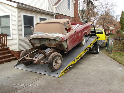 2013-12-02 - Moving Big Red to the restoration shop