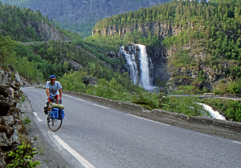 Skjervefossen Waterfalls - Road 13, Norway - June 15, 1989