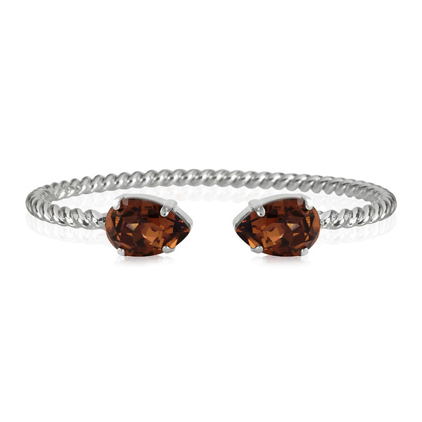 Mini Drop Bracelet / Smoked Topaz Rhodium