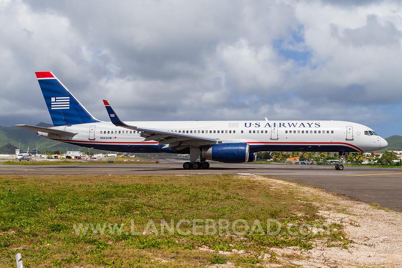 US Airways 757-200 - N942UW - SXM