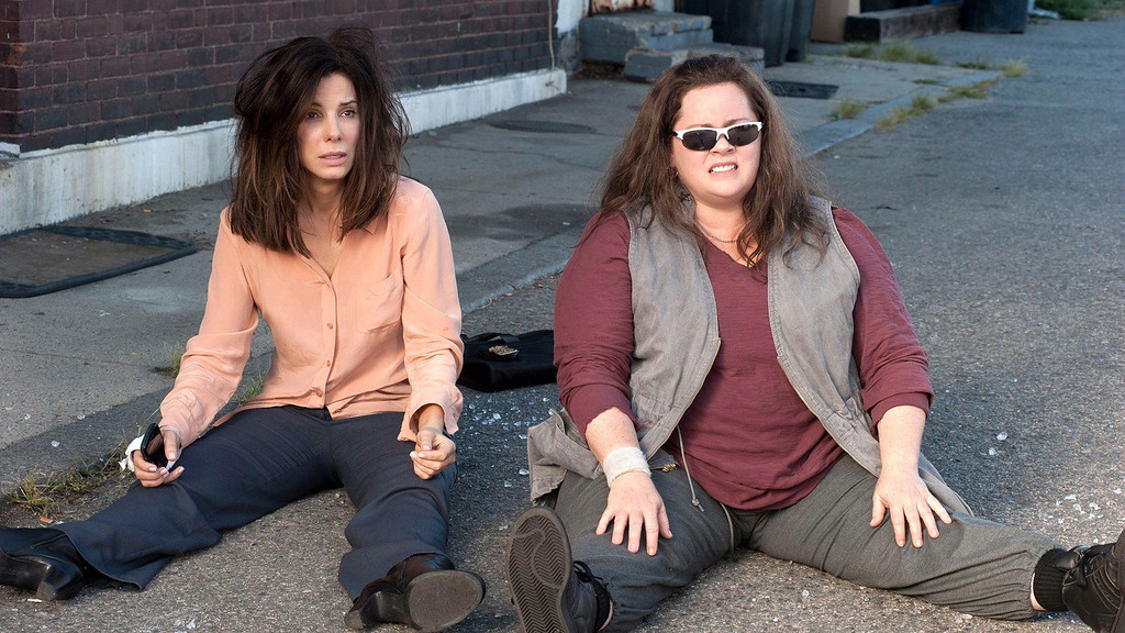 ". ""The Heat\"" starring Sandra Bullock (left) and Melissa McCarthy is the only major studio release this summer starring only women."