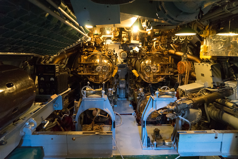 Rear torpedo room's four tubes.