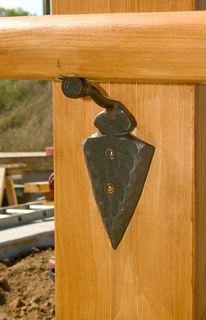 Stephen Morse' Handrail Brackets at Daniel Boone Log Homes Office