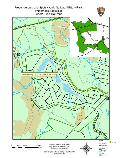 Fredericksburg & Spotsylvania National Military Park (Federal Line Trail)