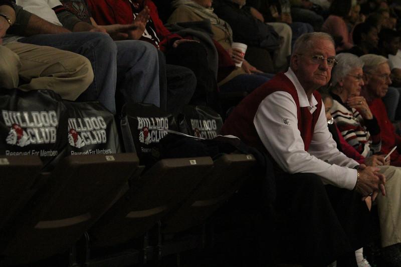Spectators watch the intense game between Coastal Carolina and Gardner-Webb
