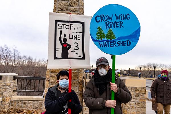 2020 12 20 Stop Line 3 Protest Lake Marshall Bridge