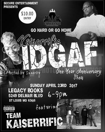 IDGAF POETRY & OPEN MIC ANNIVERSARY 4-23-17