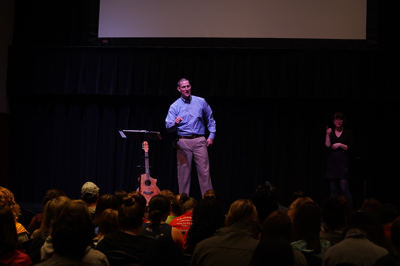 Jonathan Lots speaks at Tuesday's Dimensions.