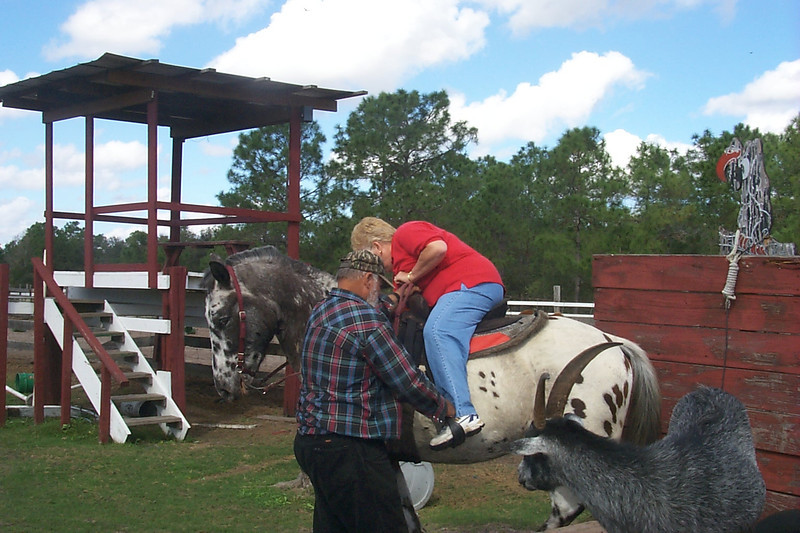 Judy Horseback Riding in Florida