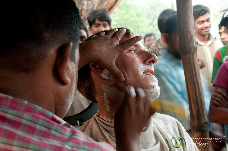 Close Shave on the Streets of Hatiandha, Bangladesh