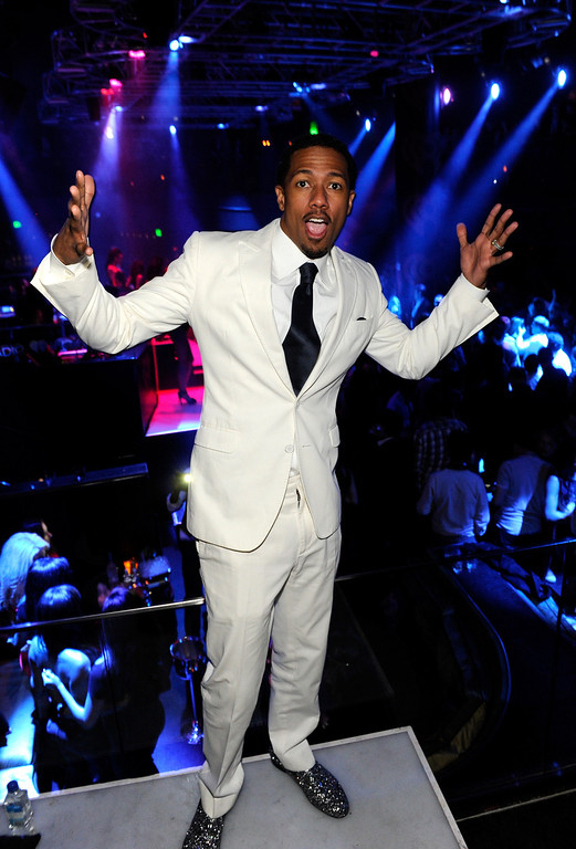 . Actor Nick Cannon attends a private party celebrating CES 2014 hosted by iHeartRadio featuring a live performance by Krewella at Haze Nightclub at the Aria Resort & Casino at CityCenter on January 8, 2014 in Las Vegas, Nevada.  (Photo by David Becker/Getty Images for Clear Channel)