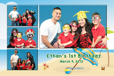 Ethan's 1st Birthday (Multi-Photo Collage)