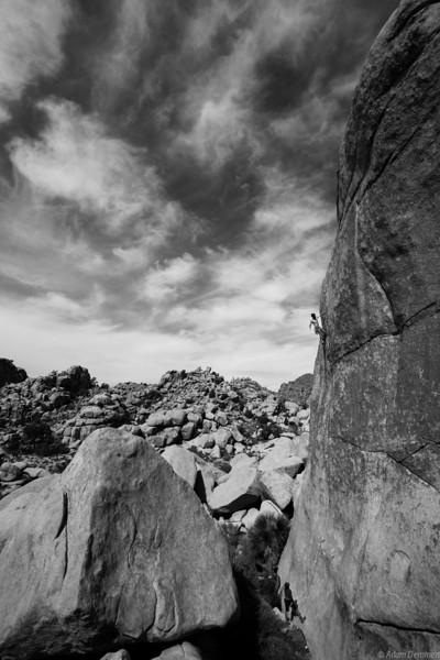 Craig Reger on Hot rocks, a sweet 5.11c finger crack