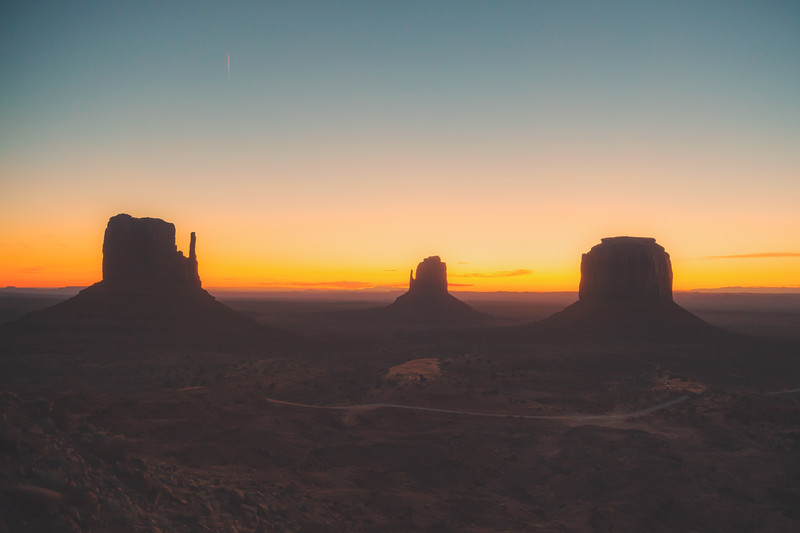 Backlit Monument Valley
