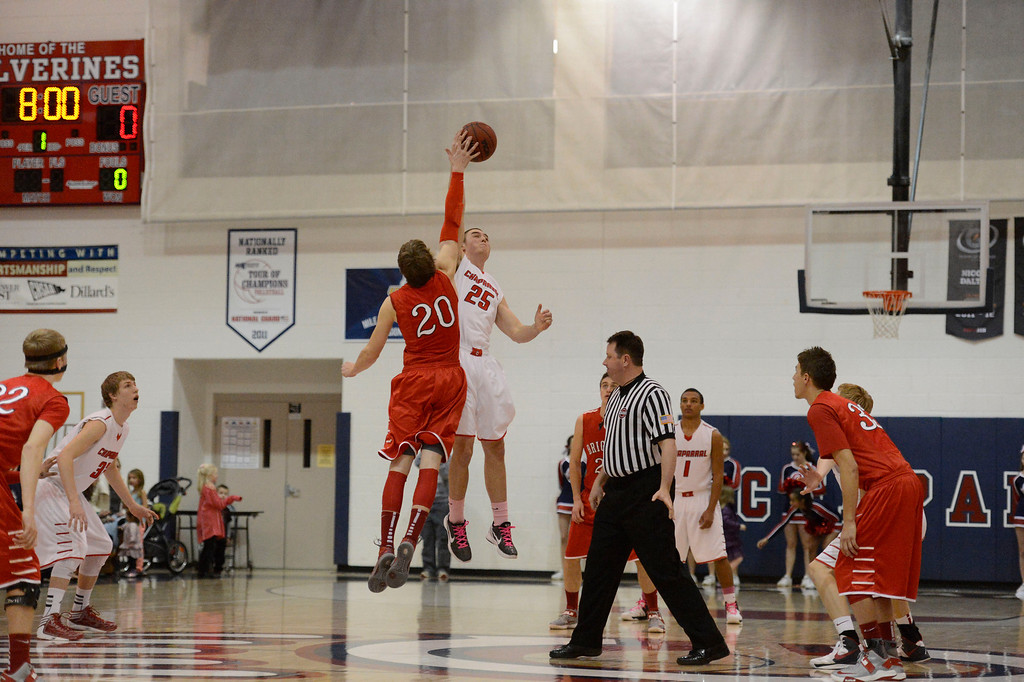. Brighton versus Chaparral in 5A basketball February 27, 2013. (Photo By John Leyba/The Denver Post)