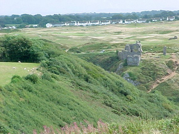 Golf Course and Castle - Wales.JPG