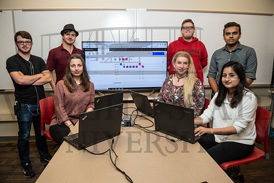 51720  Visiting Professor Nella Ludlow and students in computer lab 10-7-19