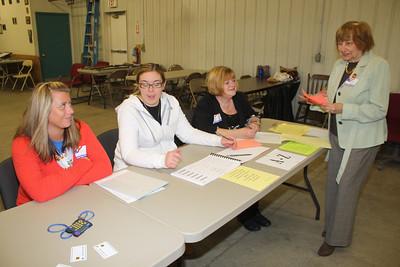 Voting at Polls, Ambulance Building, Coaldale (4-24-2012)