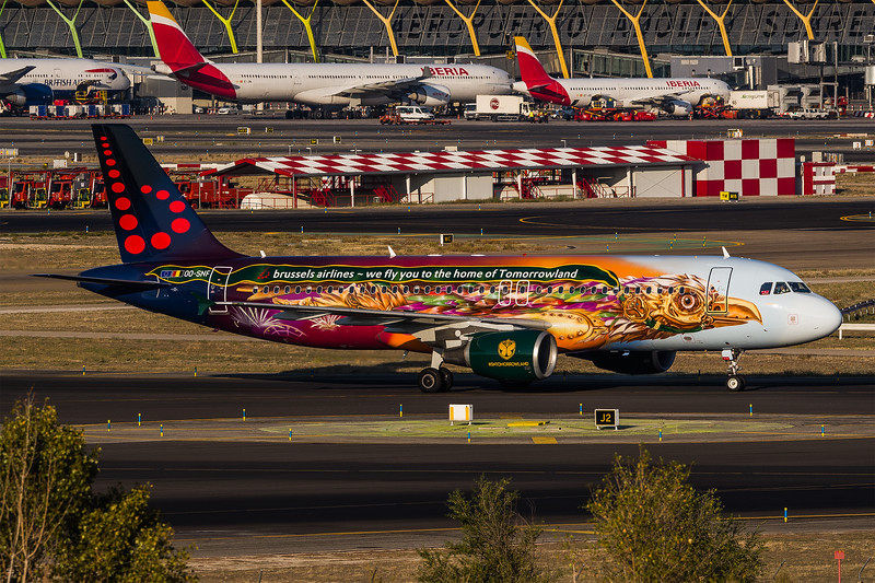 Brussels / Airbus A320-214 / OO-SNF / Tomorrowland Livery