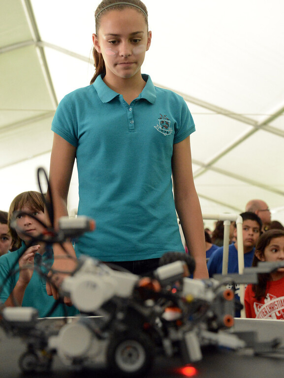 . Robot sumo wrestling matches at Cal Poly in Pomona May 10, 2013. More than 800 elementary school students from across Southern California are expected at the university\'s annual Robot Rally, the largest in the nation. Students from 13 schools will watch their robots compete in a variety of challenges, including sumo wrestling, speed trials and an obstacle course.