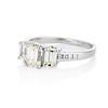 1.15ctw Emerald Cut Diamond Trilogy Ring 1