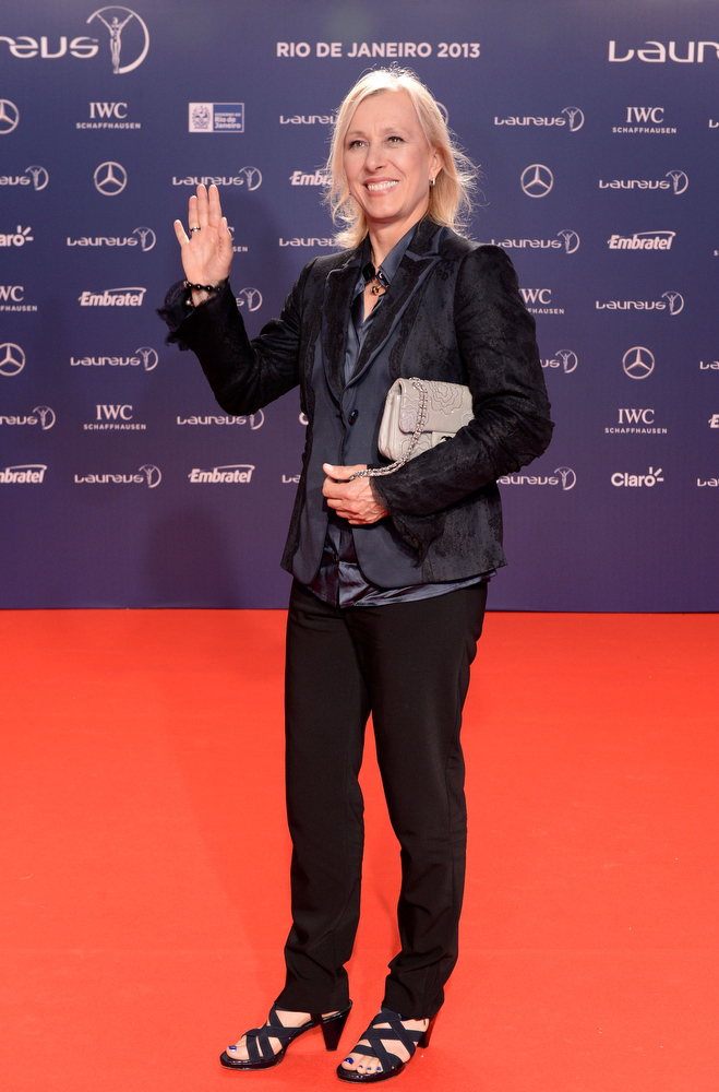 . Laureus Academy Member Martina Navratilova attends the 2013 Laureus World Sports Awards at the Theatro Municipal Do Rio de Janeiro on March 11, 2013 in Rio de Janeiro, Brazil.  (Photo by Buda Mendes/Getty Images For Laureus)