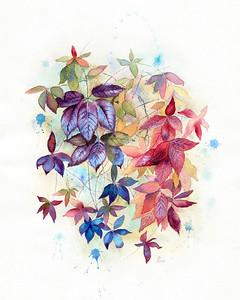 """Autumn Mood"" (watercolor) by Daria Anisimova"