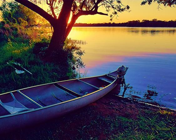 Sunset at Ink's Lake