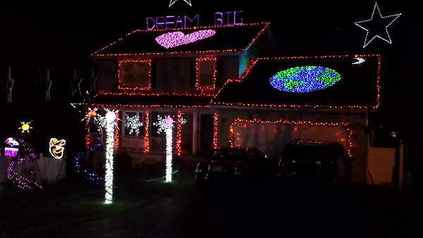 Crazy Lights Display on House in Ellicott City