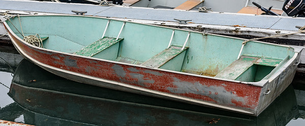 Fishing dinghy, Bartlett Cove, Inside Passage, Alaska