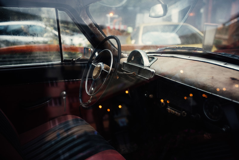 old car interior warsaw street city reflection nikon erik witsoe summer.jpg