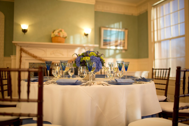 Table setting at Historic Highfield Hall on Cape Cod for your wedding reception. - Home - The Casual Gourmet, Cape Cod Wedding Caterer