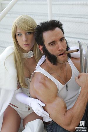 Constantine as Emma & Lonstermash as Wolverine @ LBCC 2012