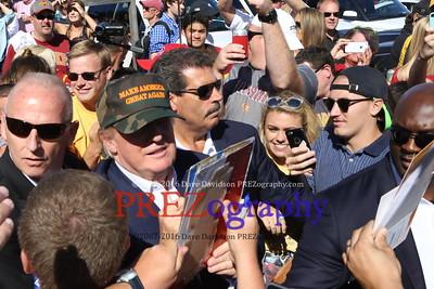 Donald Trump CY Hawk Game 9-12-15