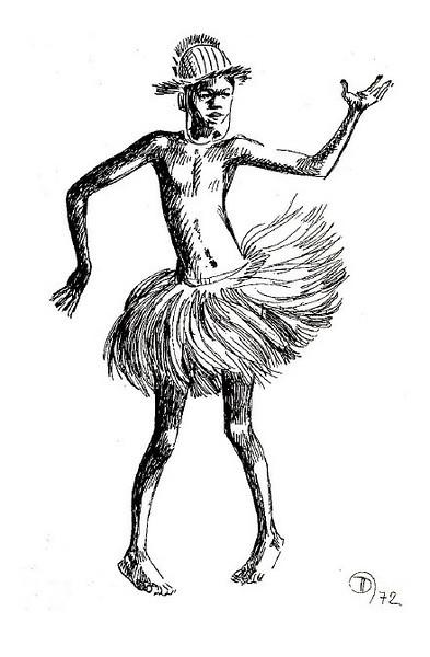 Kandandje com khamba, desenho de Neves e Sousa